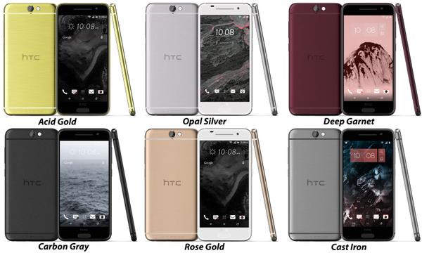 HTC One A9 Aero press renders colors