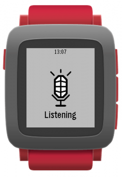 Pebble Time voice listening