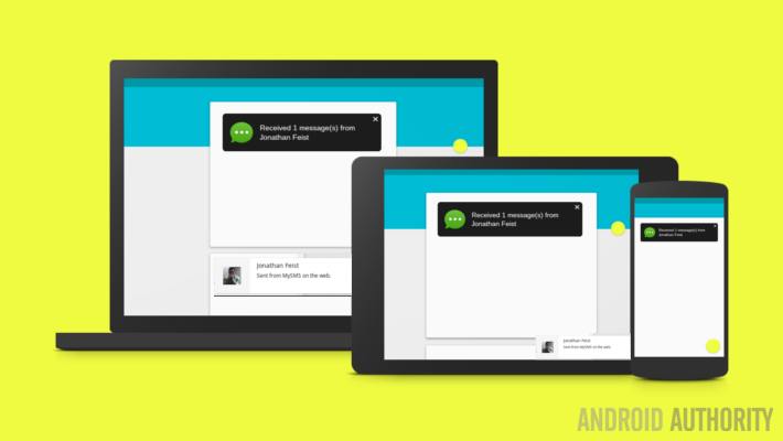 SMS from Android to PC and tablet