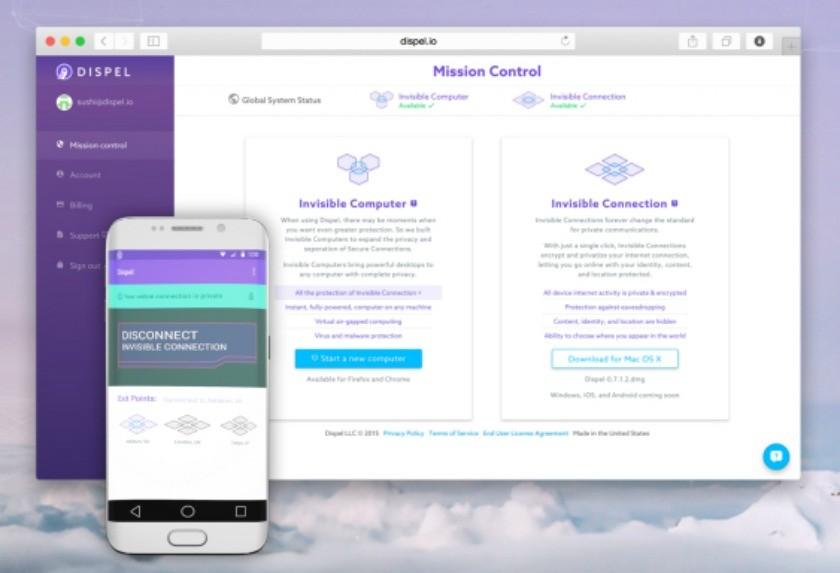 Dispel app and portal
