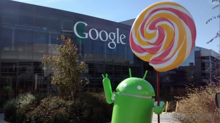 Lollipop statue Android Google logo close