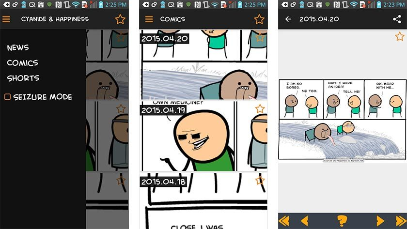 cyanide and happiness best funny apps for Android