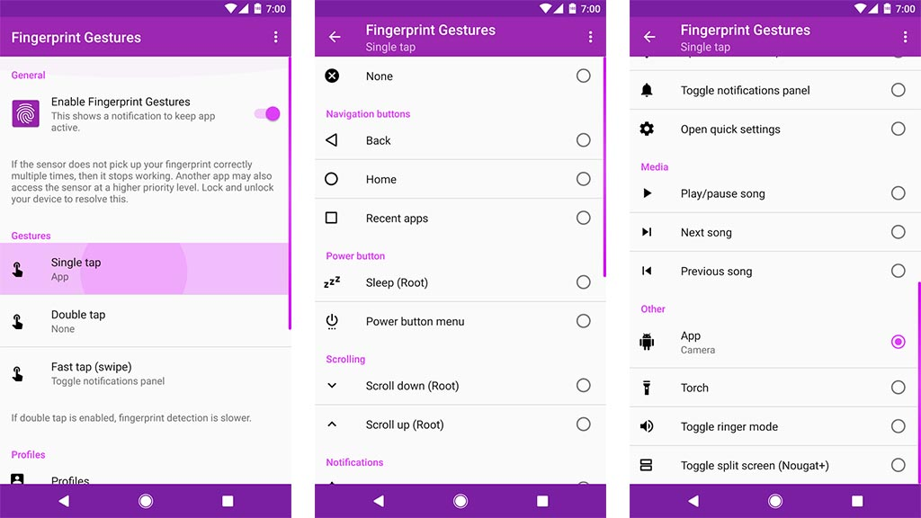 fingerprint gestures Android Apps Weekly