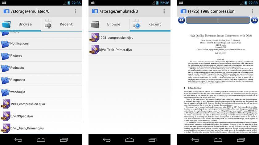 AnDoc DJVU and PDF Reader