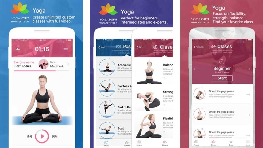 Yoga Poses and Classes