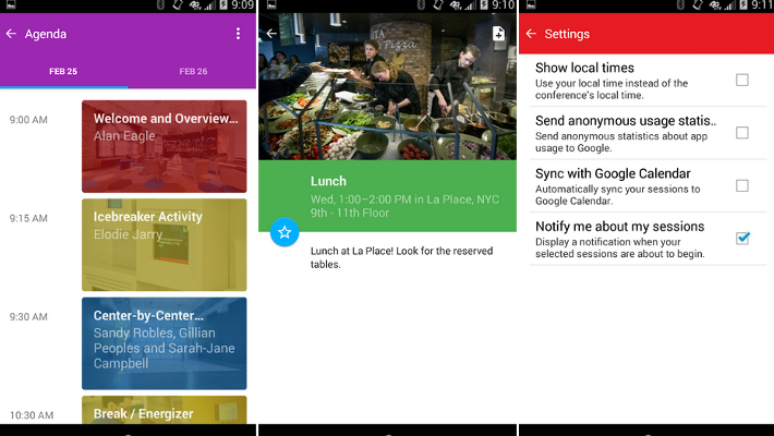 Google Interactive Events app