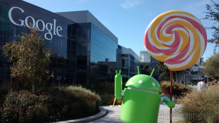 Lollipop statue Android Google straight on