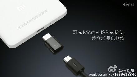 Xiaomi Mi 4c USB Typc C adapter