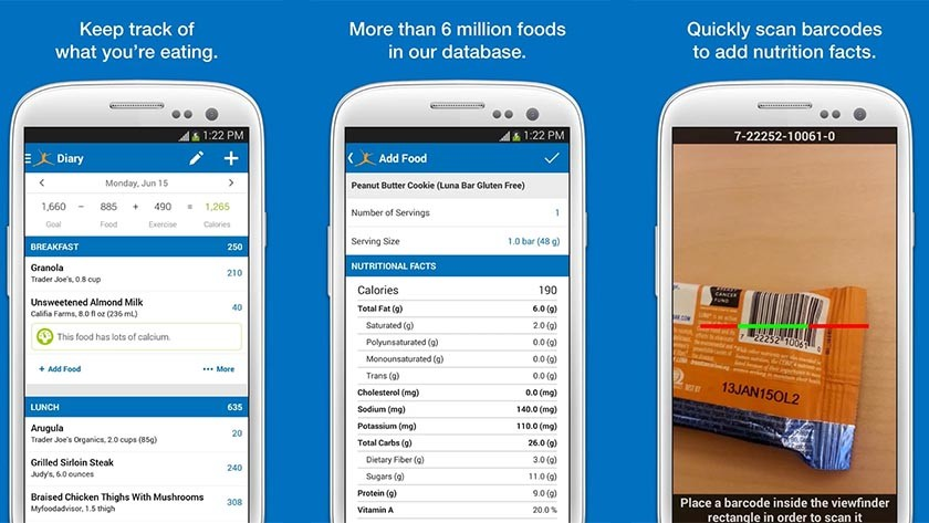myftinesspal best Android diet apps and nutrition apps