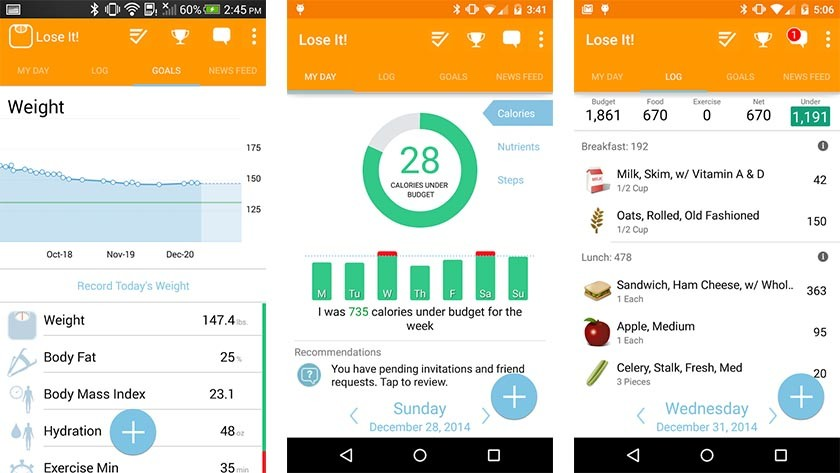 Lose It best diet apps and best nutrition apps for Android
