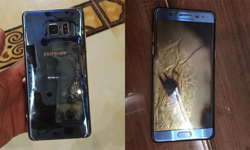Exploded Galaxy Note 7 China
