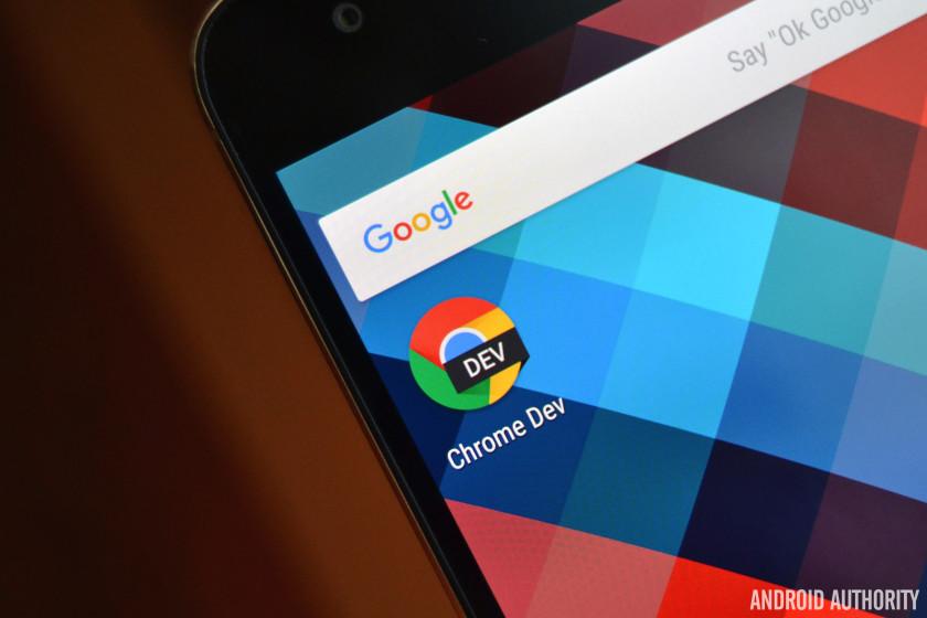 Google Chrome Dev AA